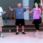 older group exercise bands
